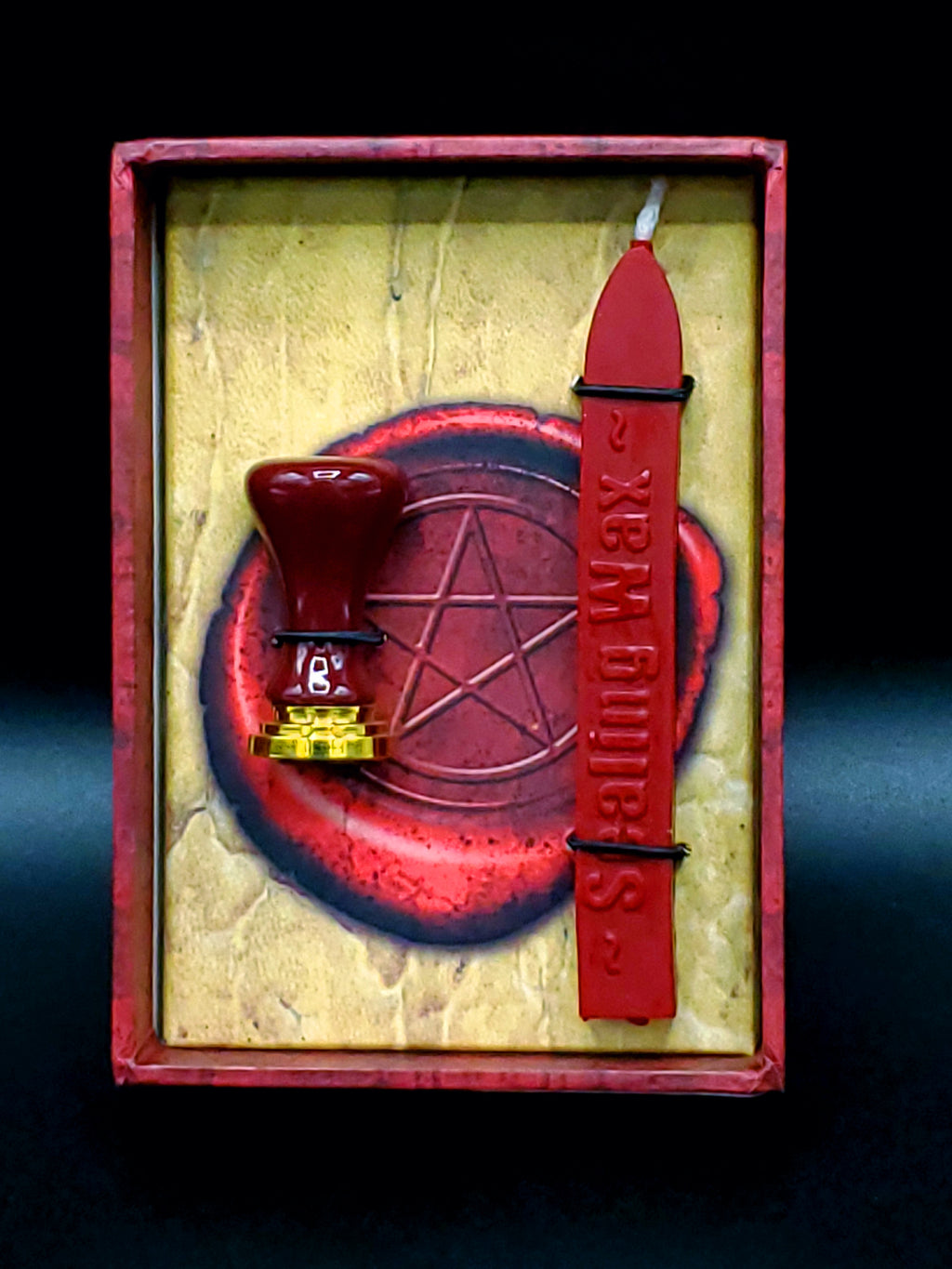 Pentagram Sealing Wax and Stamp