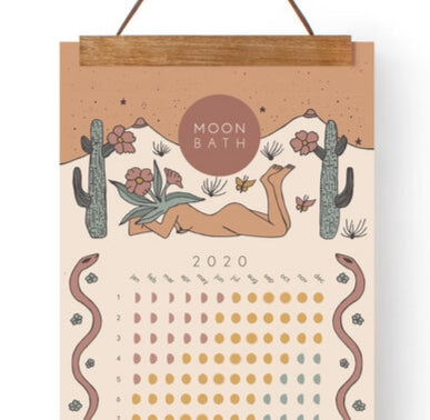2020 Lunar Cycle Moon Phase Calendar + Hanger