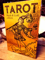 Gold & Black Tarot Card Deck