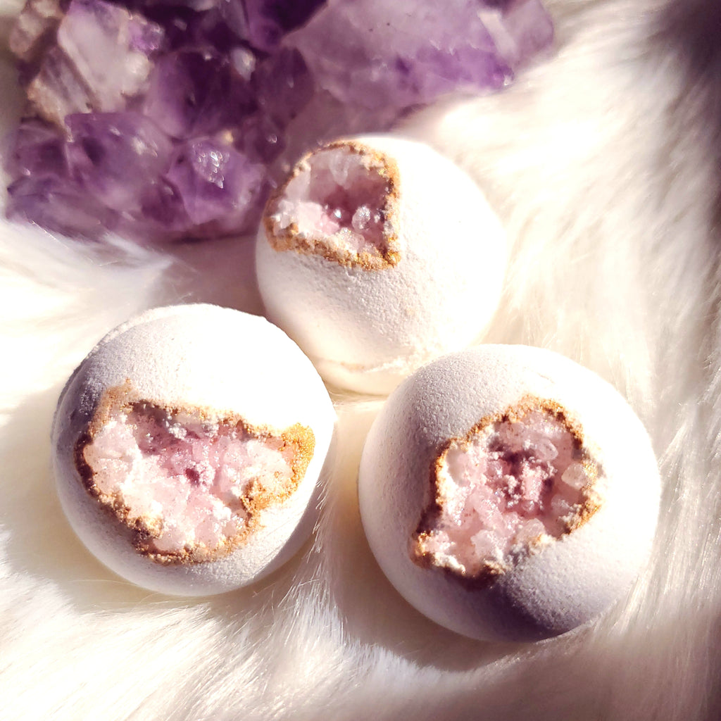 Rose Quartz Mini Geode Bath Bombs - 6 pk