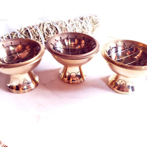 Witchy Brass Charcoal Burners