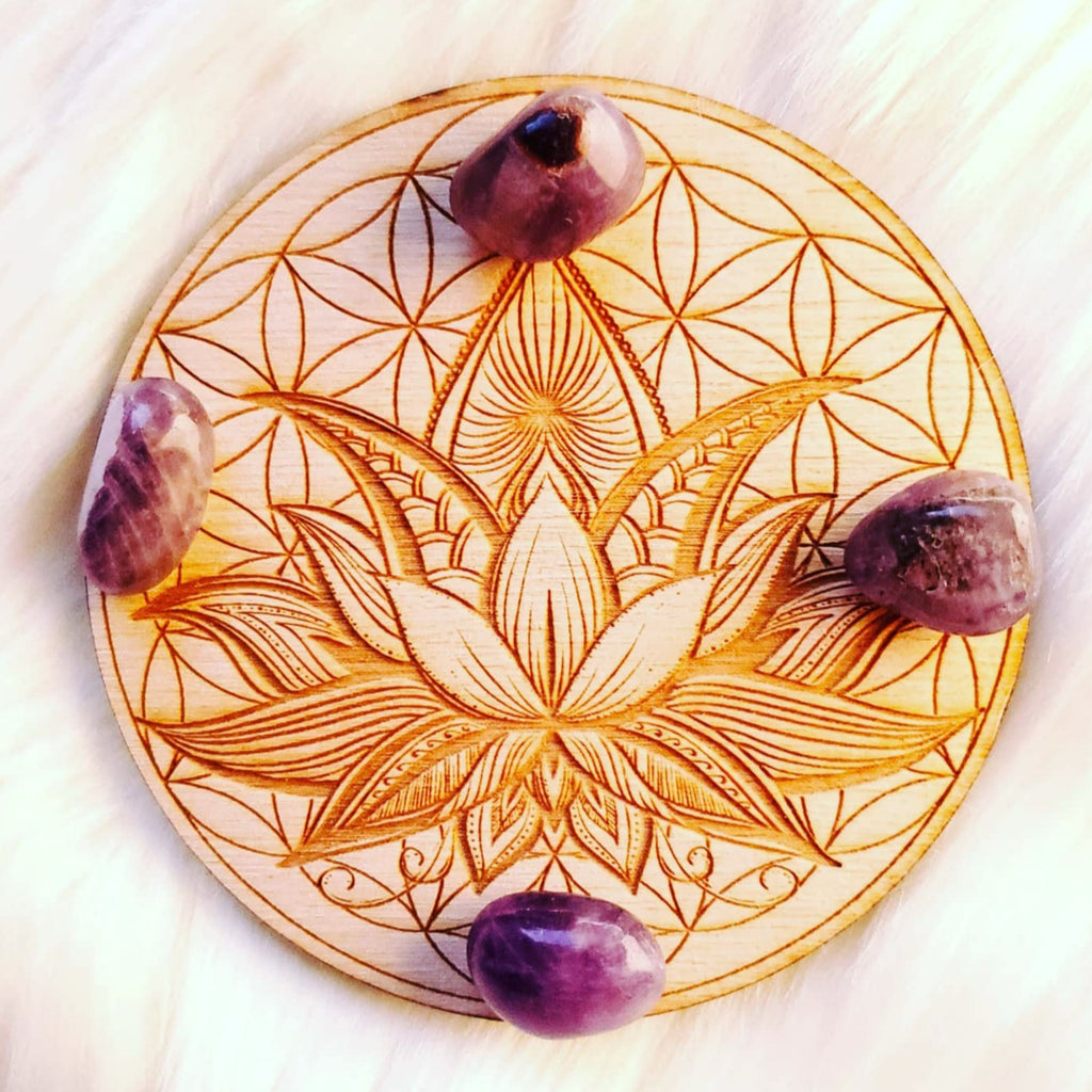 Lotus Yoga Crystal Grid