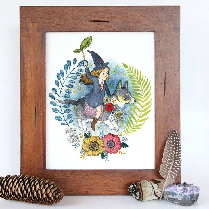 "Little Witch Art Print 8.5"" x 11"""