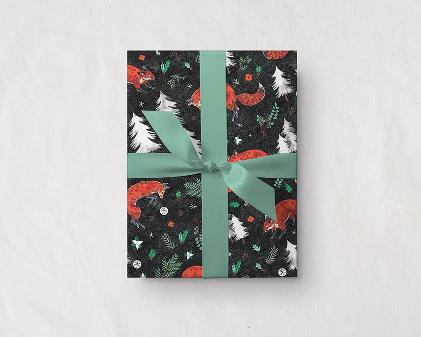Winter Foxwood Gift Wrap
