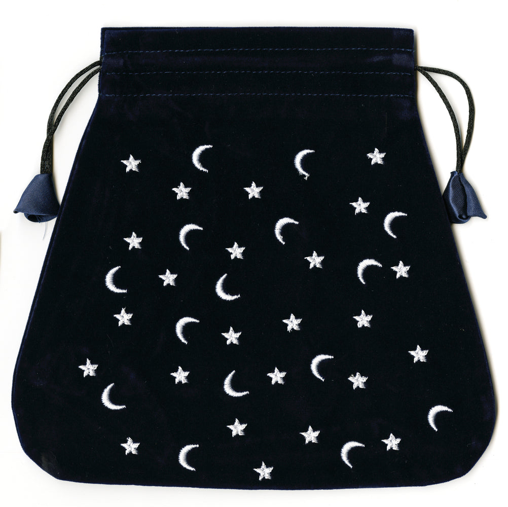 Moon and Stars Velvet Deck Bag