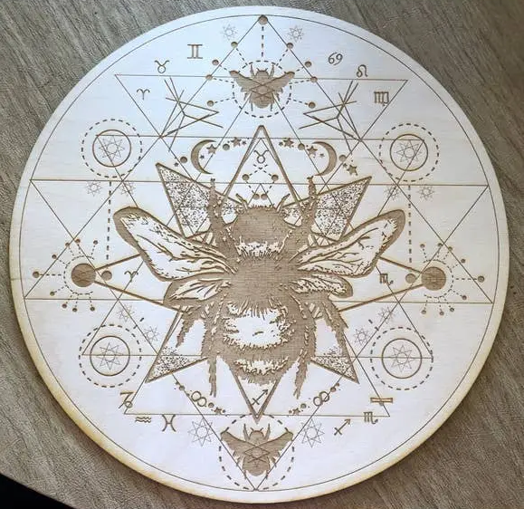 Honeybee Crystal Grid