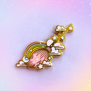 Magickal Broom Enamel Pin