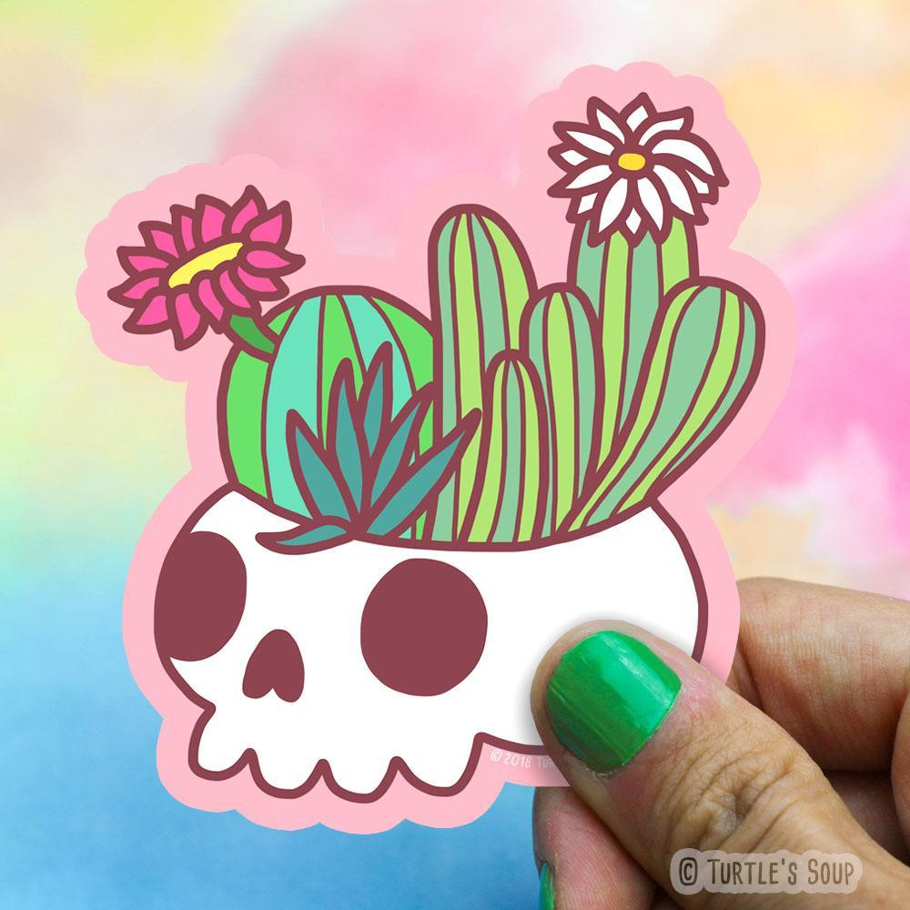 Skull Planter Vinyl Sticker