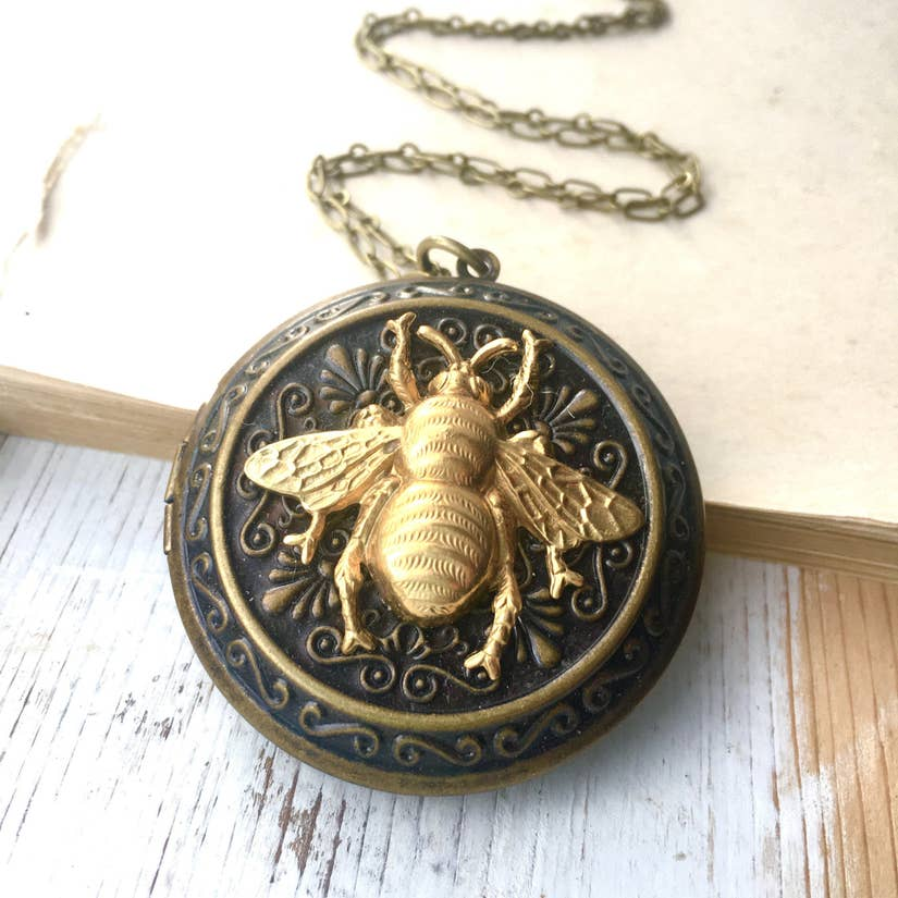 Big Bumblebee Locket Pendant