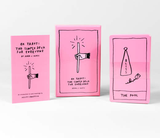 OK Tarot deck by Adam J. Kurtz. Pink tarot Visionary Pastel Magic card deck. Kids tarot. Teen tarot.