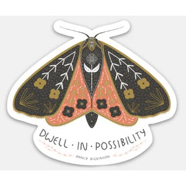 Dwell In Possibility Sticker | Moth Sticker