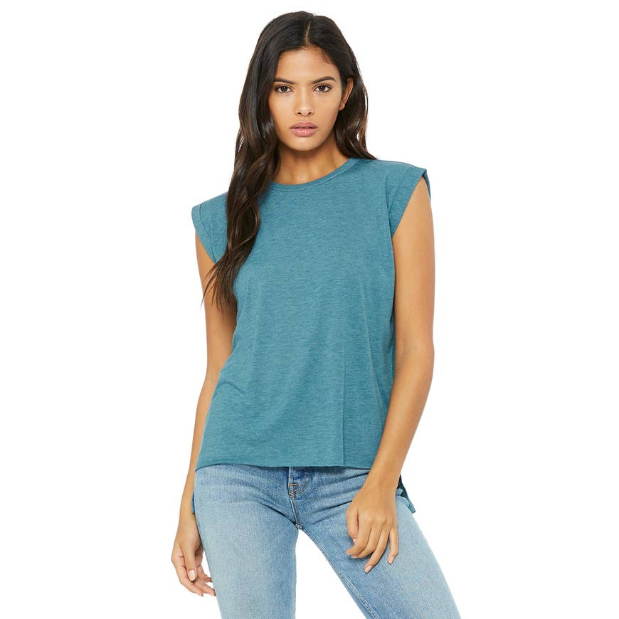 Cactus and Succulents Top | Teal | Eco-friendly