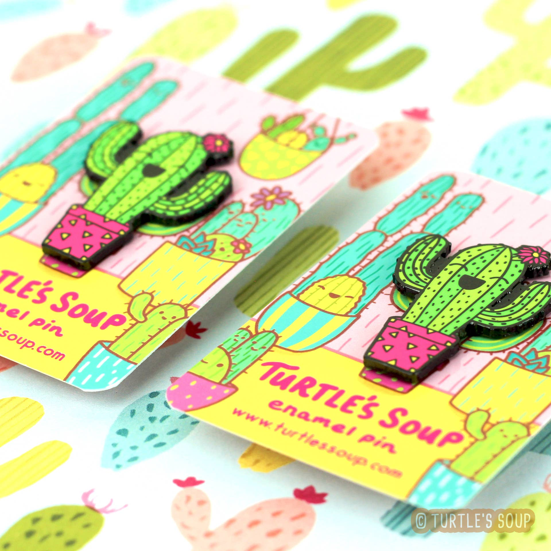 Happy Little Saguaro Hard Enamel Pin