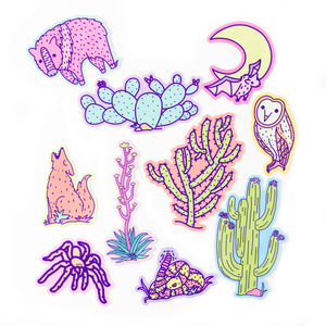 Flora And Fauna of the Sonoran Desert Sticker Pack