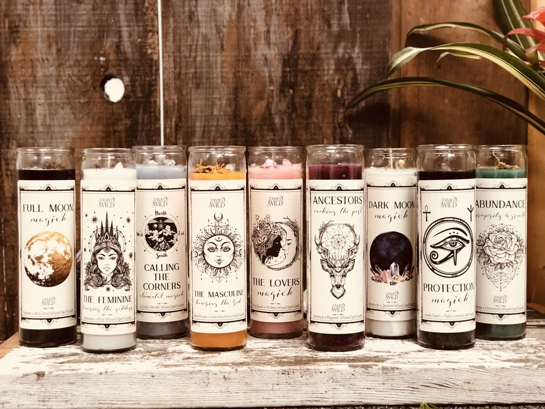 Tamed Wild ritual Spell candles