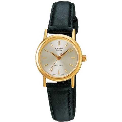 Casio Analog Leather Strap Watch / Black Gold (MTP-1095Q-7A)