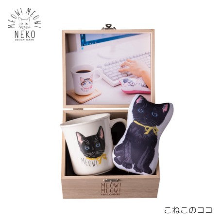 MEOW!MEOW! BOX with Mug & Hand Rest (Kitten Coco)
