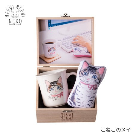 MEOW!MEOW! BOX with Mug & Hand Rest (Kitten Mei)