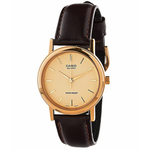 Casio Analog Leather Strap Watch / Brown Gold (MTP-1095Q-9A)