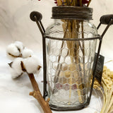 Iron Glass Floral Bottle
