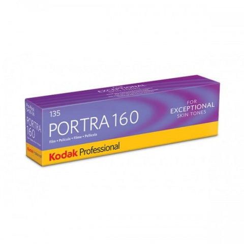 Kodak Professional Portra 160 / 160 ISO / 36 EXP / 135mm / Color Negative ( 1 Roll / 1 Pack 5 Rolls)