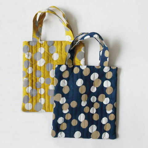 Handbag (Navy / Yellow)