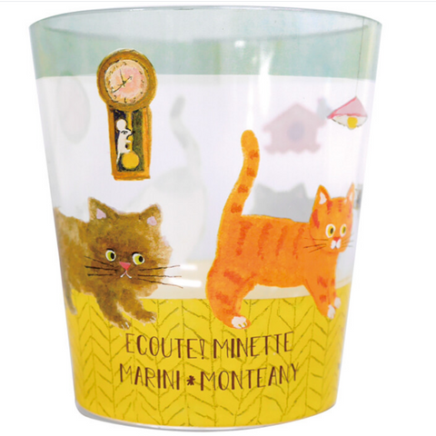 Cute Meow Clear Cup