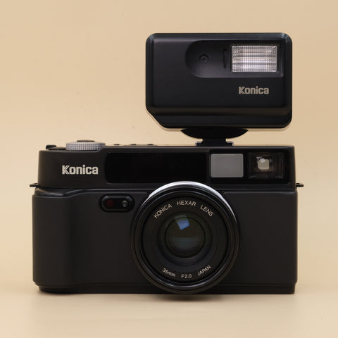 Konica Hexar with flash