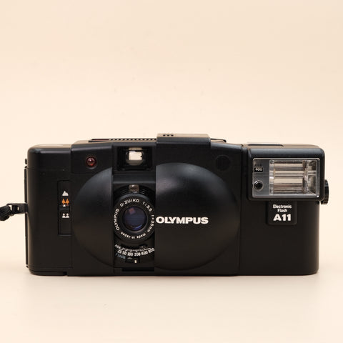 Olympus XA2 with flash