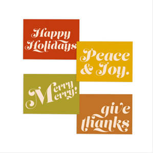 Holiday Message Card Set