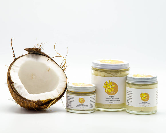 pag'ba: lemongrass and coconut with organic shea butter