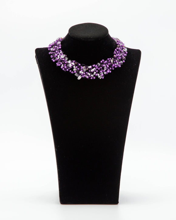 Purple Passion Crocheted Wire Necklace