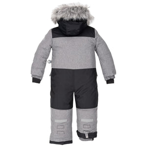 Deux Par Deux 1pc. Snowsuit- Grey - 2