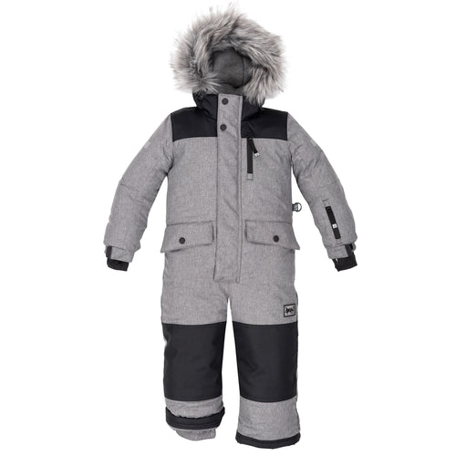 Deux Par Deux 1pc. Snowsuit- Grey