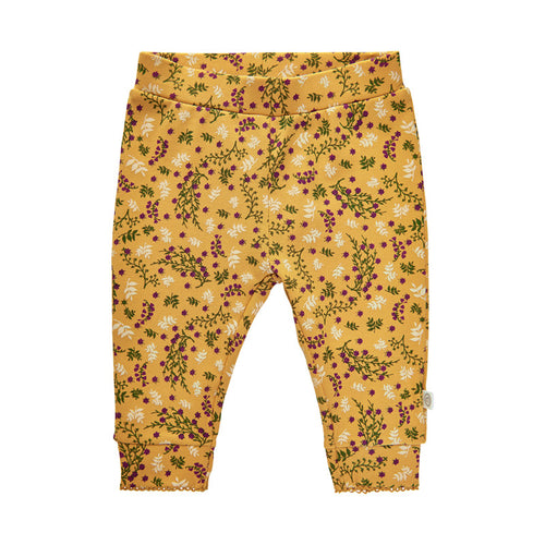 Minymo Amber Gold Flower Pants 9m