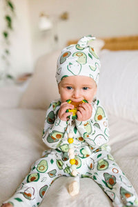 LouLou Lollipop Avocado Top Knot Beanie