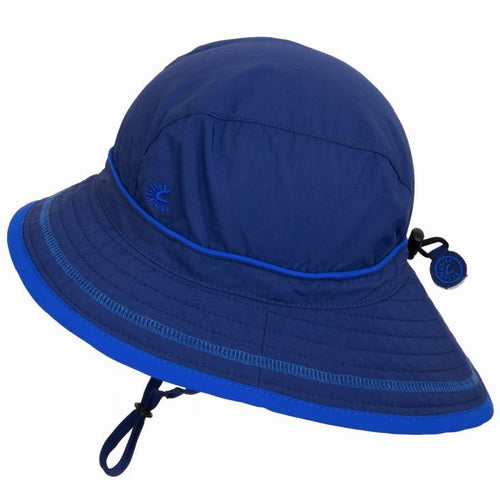 Calikids UV Beach Hat - Navy 0-6m