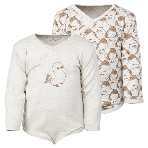 Fixoni Tan Bird Bodysuit 2pk.