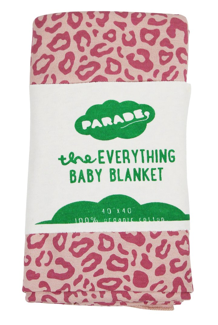 Parade Everything Baby Blanket- Pink Leopard