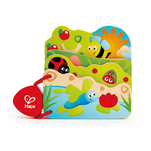 Hape Wooden Baby Bug Book