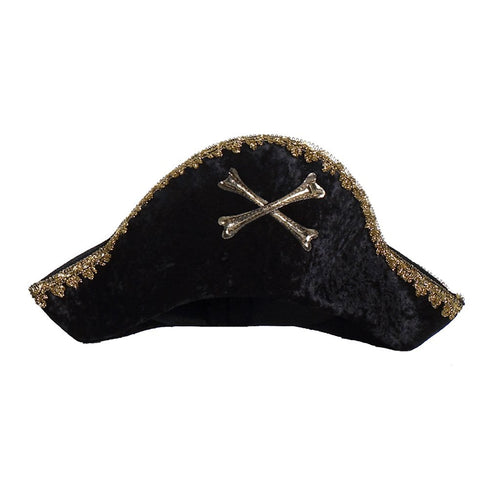 Black Captain Hook Hat