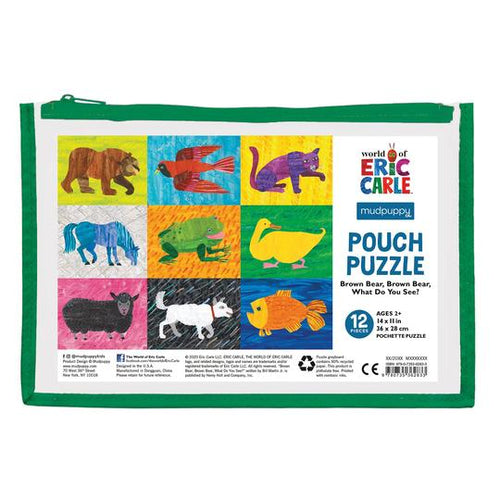 Eric Carle Brown Bear Pouch Puzzle 12pc