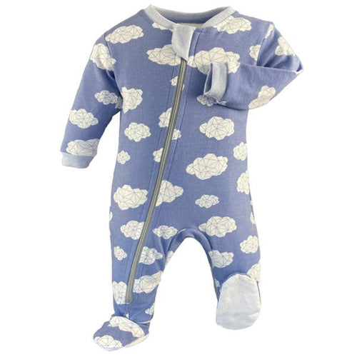 ZippyJamz Sleepy Clouds Babysuit