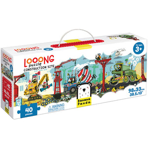 Looong Puzzle Construction Site 40pc