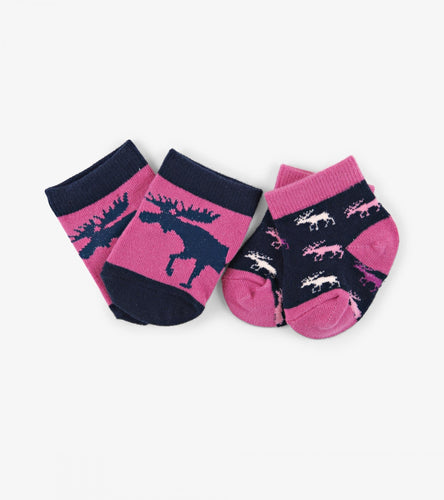 LBH Cottage Moose Baby Socks