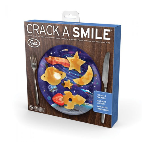 Crack a Smile Space Breakfast Mold & Plate Set