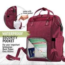 Load image into Gallery viewer, Kea Babies Diaper Bag Backpack- Wine Red