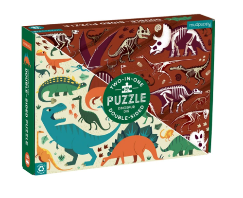 Dino Dig 100pc. Double Sided Puzzle
