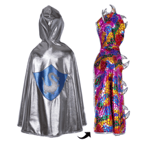 Load image into Gallery viewer, Dragon Knight Iridescent Reversible Cape