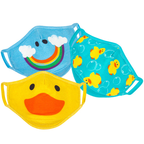 Zoocchini Organic Reusable Face Mask 3pk- Ducks